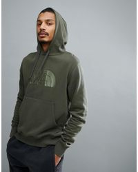 The North Face - Drew Peak Pullover Hoodie In Green - Lyst