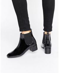 Monki - Patent Chelsea Ankle Boot - Lyst