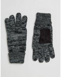 Esprit - Knitted Gloves In Salt & Pepper - Lyst