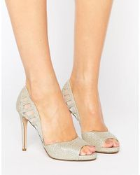 Faith   Carbo Metallic Cut Out Heeled Shoes   Lyst