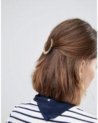 Orelia - Pearl Cresent Hair Clip - Lyst