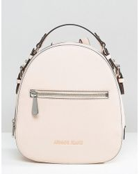 Armani Jeans - Simple Backpack With Embossed Logo In Blush - Lyst