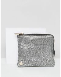 Mi-Pac - Coin Holder In Pebbled Silver - Lyst