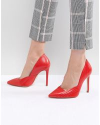 Karen Millen - Pleat Detail Pointed Stilettos - Lyst