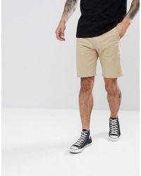 Farah - Hawk Chino Twill Shorts In Light Sand - Lyst