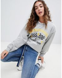 Daisy Street - Relaxed Sweatshirt With Vintage Print - Lyst