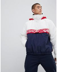 DC Shoes - Half Zip Overhead Water Resistant Jacket - Lyst