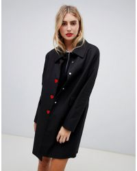 Love Moschino - Heart Button Coat - Lyst