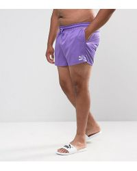 PUMA | Plus Retro Swim Shorts In Purple Exclusive To Asos 57659602 | Lyst