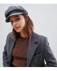 536f46786d108 Brixton Baker Boy Hat In Leather in Black - Lyst