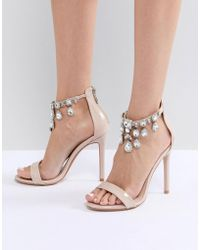 Public Desire - Chai Ankle Embellished Heeled Sandals - Lyst