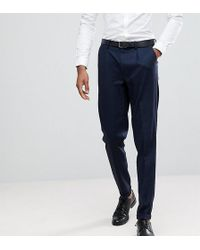 SELECTED - Tall Tapered Smart Trousers In Texture - Lyst