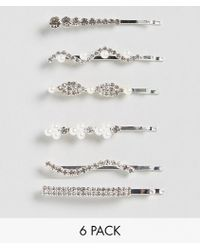 New Look - Sparkle And Pearl Hair Slides - Lyst
