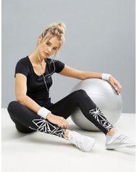 ELLE Sport - Graphic Print Gym Leggings - Lyst