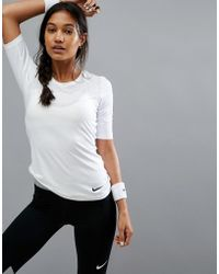 Nike Pro Training Hypercool Top In White