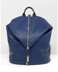 Liquorish | Fold Over Backpack With Zip | Lyst