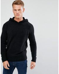 D-Struct - Knitted Chenille Hooded Jumper - Lyst