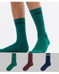 Vans - 3 Pack Socks In Multi Vn000xsewup1 - Lyst