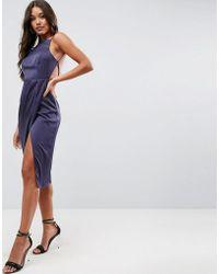ASOS - Drape Back Delicate Backless Midi Dress - Lyst