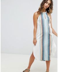 Rip Curl - Rip Curl Beach Stripe Midi Dress - Lyst