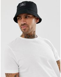 ASOS - Bucket Hat In Black With Patch - Lyst