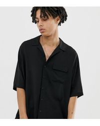 Collusion - Oversized Revere Shirt In Black - Lyst