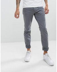 Emporio Armani | J06 Slim Fit 5 Pocket Trousers In Grey | Lyst