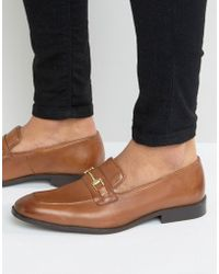 ASOS - Loafers In Tan Suede With Metal Snaffle - Lyst