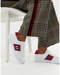 Fred Perry - B721 Canvas Sneaker With Stripe Logo Crest - Lyst