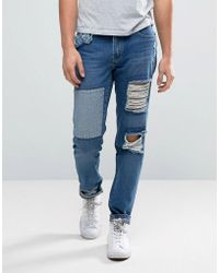 WÅVEN - Tapered Fit Jeans In Rip And Repair - Lyst