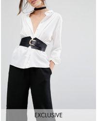 Retro Luxe London | Leather Corset Waist Belt | Lyst