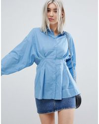 Weekday - Sinched In Waist Shirt - Lyst
