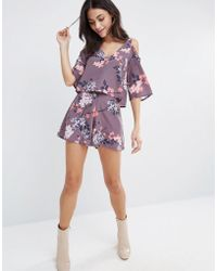 Oh My Love - Printed High Waisted Shorts - Lyst