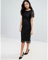 Zibi London - Lace Pencil Skirt - Lyst