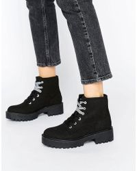 Pull&Bear - Lace-Up Ankle Boots - Lyst