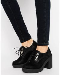 Blink - Lace Up Chunky Heel Shoe - Lyst