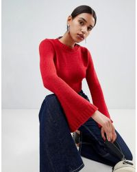 Boohoo - Wide Sleeve Cropped Knit - Lyst