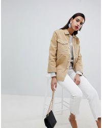 Whistles - Longline Denim Workwear Jacket - Lyst