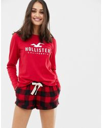 Hollister - Pyjama Shorts In Check - Lyst