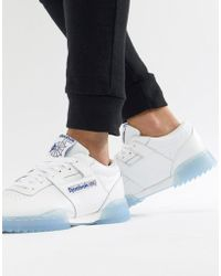 Reebok - Workout Clean Ripple Ice Trainers In White Cm9931 - Lyst