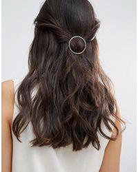 Pieces - Hinan Circle Hairclip - Lyst
