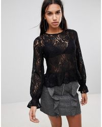 Y.A.S - Sunflower Lace Blouse - Lyst