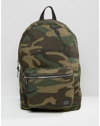 New Look - Camo Backpack In Khaki - Lyst