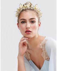 True Decadence - Pearl Rhinestone Hair Crown - Lyst