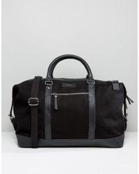 Sandqvist - Cotton Canvas & Leather Weekend Bag - Lyst