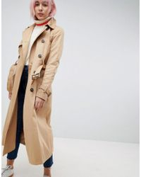 ASOS - Longline Classic Trench Coat - Lyst