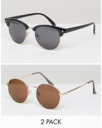 D-Struct - Sunglasses Two Pack - Lyst