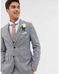 Moss Bros - Moss London Skinny Suit Jacket With Check Boucle - Lyst