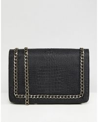 ASOS - Asos Oversized Croc Cross Body Bag With Chain Handle - Lyst