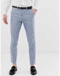 Classique Coupe Pantalon Costume En Suprieure De Qualit Lin VSUzMp